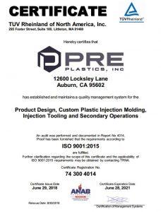 PRe ISO 2015 Cert